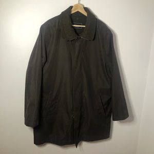 Chaps Brown Trench-Coat w/ Removable Liner